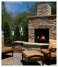 outdoor fireplace ledgestone veneer Paver Patios & Planning for Spring Clean Up