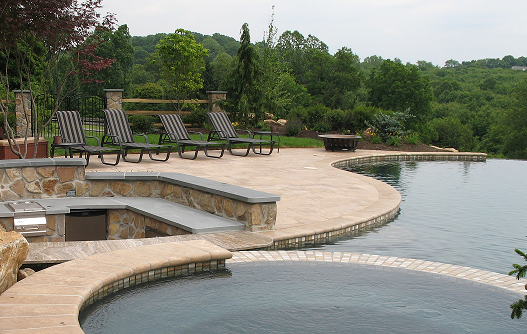 travertine natural stone for patios / walkways
