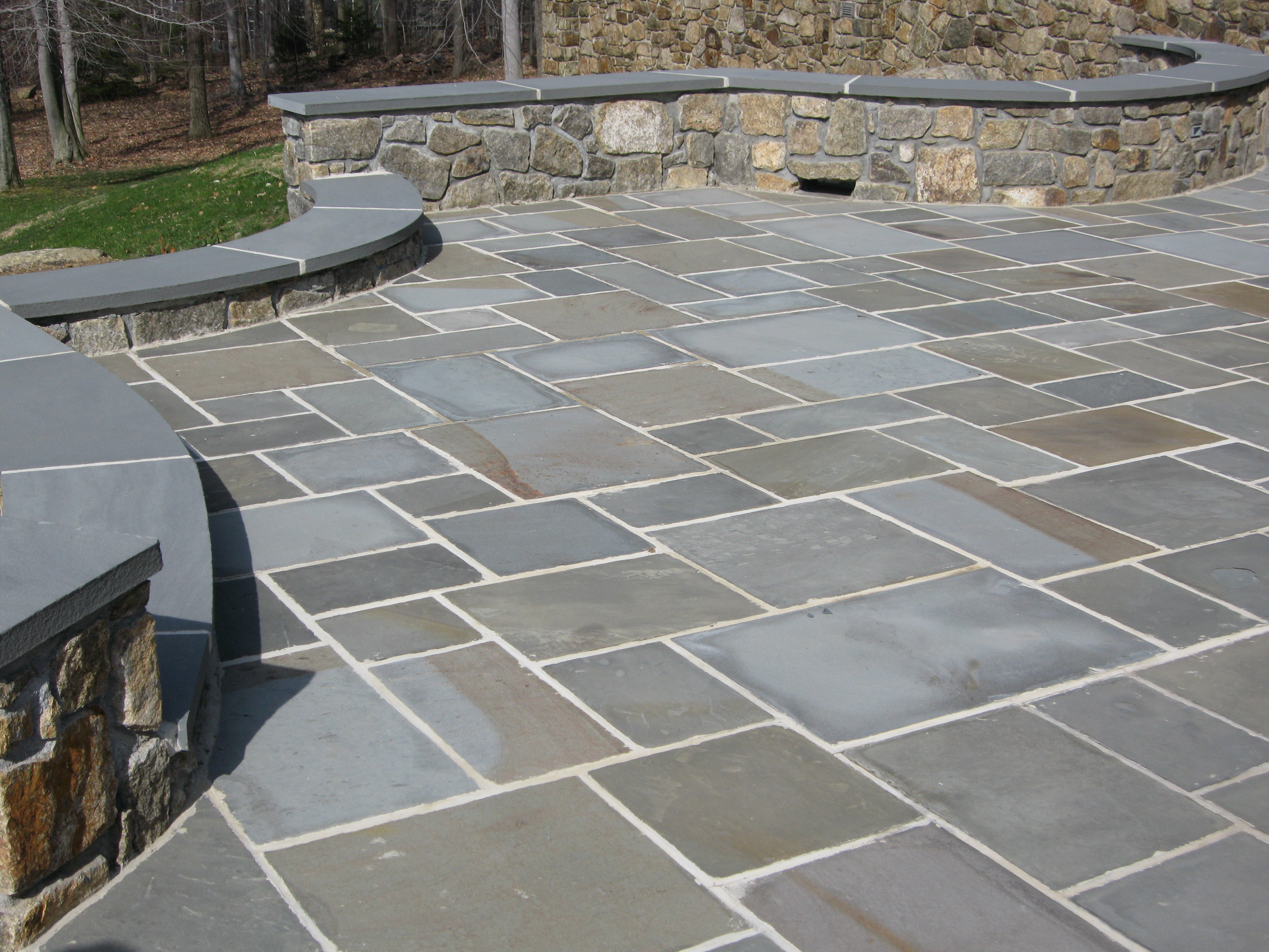 Bluestone Flagstone Thickness: Thermal Flagstone, Dry Set, Wet Set