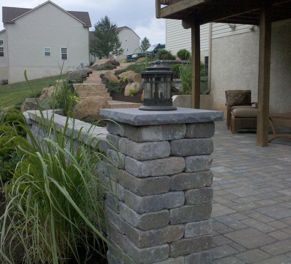 Natural Stone Pillars Caps : Hardscaping cst flat cap hardscape landscape supplier