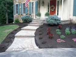 resizedimage250187 Steckel Front Paver Walk Green Pavers Reduce Runoff