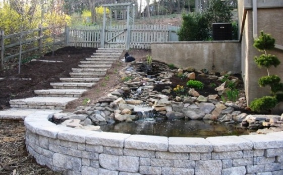 EPH Pond Wall How to Install Precast Concrete Steps