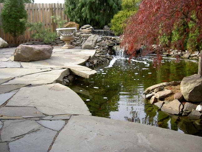 Pennsylvania bluestone flagstone philadelphia delaware for Local pond supplies