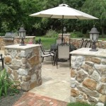 Natural Stone Mosaic Cap 150x150 Natural Stone Pillar Caps: Hardscaping Options