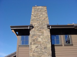stone chimney 300x225 The Beauty of Stone Veneer Panels