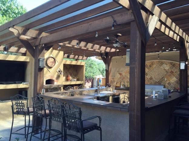 outdoor kitchen on patio